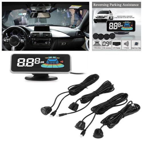 LCD Display Car Parking Sensor 4 Rear Front View Reverse Backup Radar System Kit