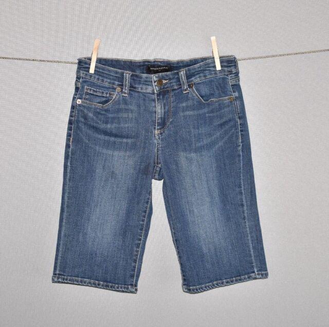 BANANA REPUBLIC $58 Medium Wash Denim Jean Bermuda Short Size 26