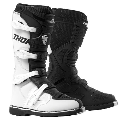Thor MX Motocross Men/'s Blitz XP Boots White//Black 10