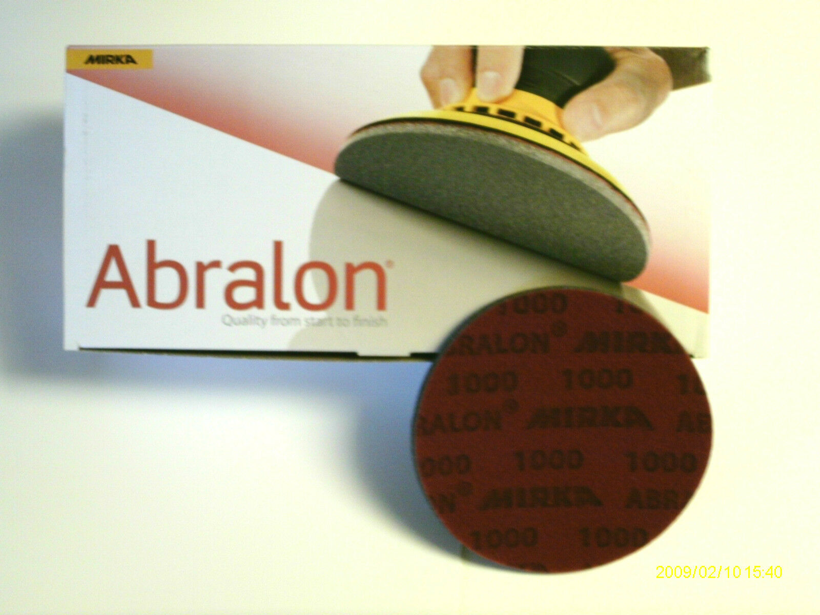 20  6   ABRALON PADS BRAND NEW 180 GRIT - AUTHENTIC PADS BY MIRKA