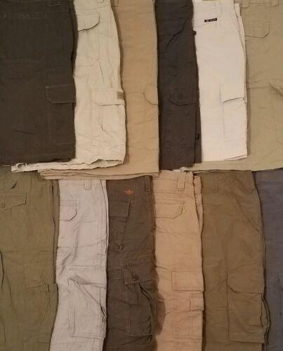Lot of 5 Cargo Shorts Work Cargos Mens Size 32