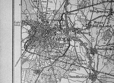 Gelernt 630 Colmar Im Elsass, Karte Des Deutschen Reiches, 1:100.000, Gedruckt 1910.