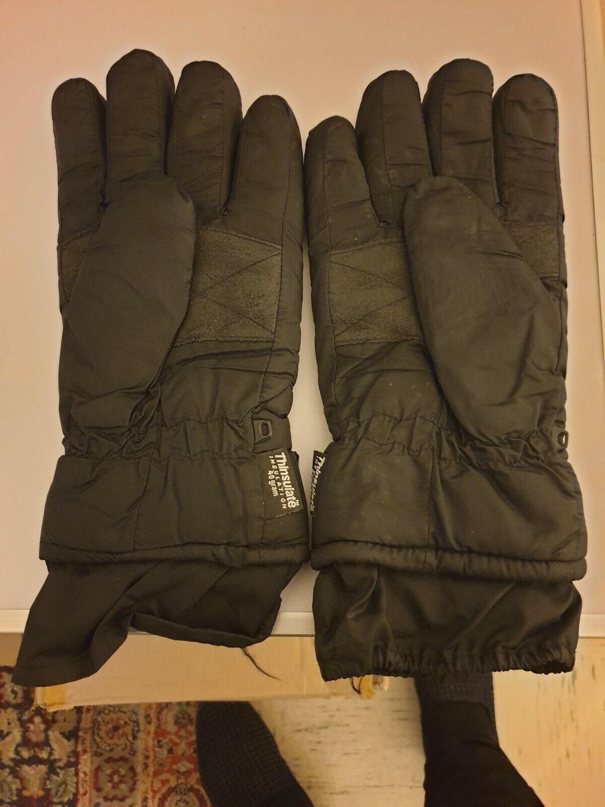 1 par de Guantes Negro de invierno para hombre