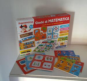 SAPIENTINO - GIOCHI DI MATEMATICA [3/5 ANNI] (CLEMENTONI) | eBay