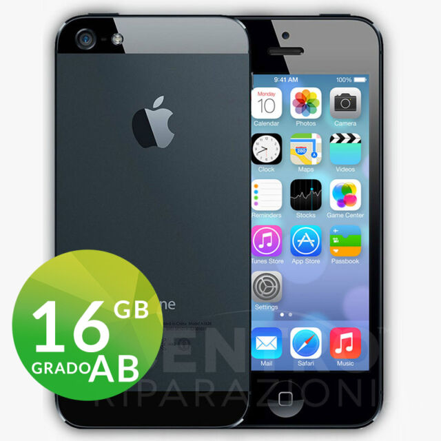 APPLE IPHONE 5 16GB NERO ARDESIA BLACK CON ACCESSORI E GARANZIA + CORRIERE
