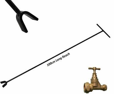 225mm Recessed Stopcock /& Wheel Valve Key Crutch Head Design Removable T-Bar