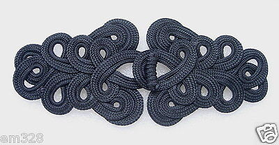 MR06 Fashion Macrame Fastener Closure Knot Black Unique
