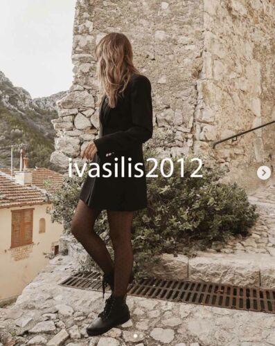 ZARA NEW WOMAN DOUBLE-BREASTED FROCK COAT BLAZER DRESS BLACK XS-XXL 2137//295