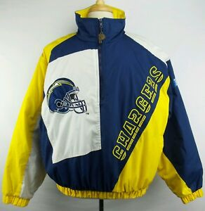 26d28dc99 Vintage ProPlayer NFL San Diego LA Chargers 1 2 Zip Pullover Jacket ...
