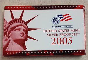 2005-US-MINT-SILVER-PROOF-SET-Complete-w-Original-Box-and-COA