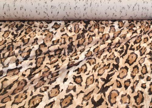 Sustancia piel sintética animal fell fell imitacion corto pelo webpelz print de leopardo decoración METERWARE