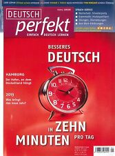Deutsch perfekt - Heft Januar 01/2013 - Einfach Deutsch Lernen,  +++ wie neu +++