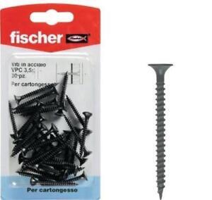 Fischer-Vis-Acier-VPC-3-5x45-K-30-Pieces-X-Placo-Couleur-Noire-Code-504667