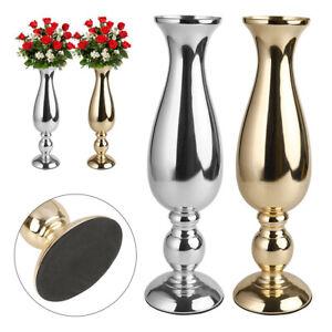 Tall Vase Gold Trumpet Vase Polished Metal Flowers Pot Wedding Centerpieces Deco Ebay