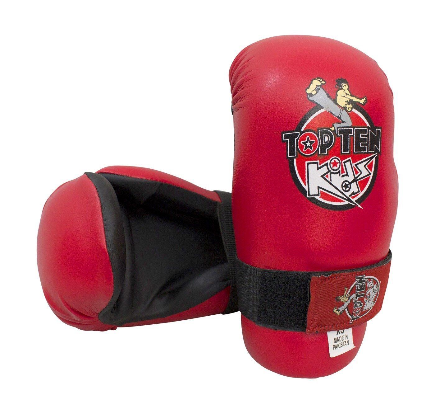 Top Ten Boxhandschuh Pointfighter Kids, Gr. XS. In weiß, schw., schw., schw., rot und blau. 470e5b