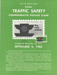 1272-Traffic-Safety-Stamp-Poster-Unofficial-Souvenir-Page-Flat-HC