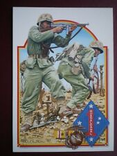 POSTCARD WWII MARINES OF 1ST US MARINE DIVISION AT WANA RIDGE  DUTY HONOUR COUNT