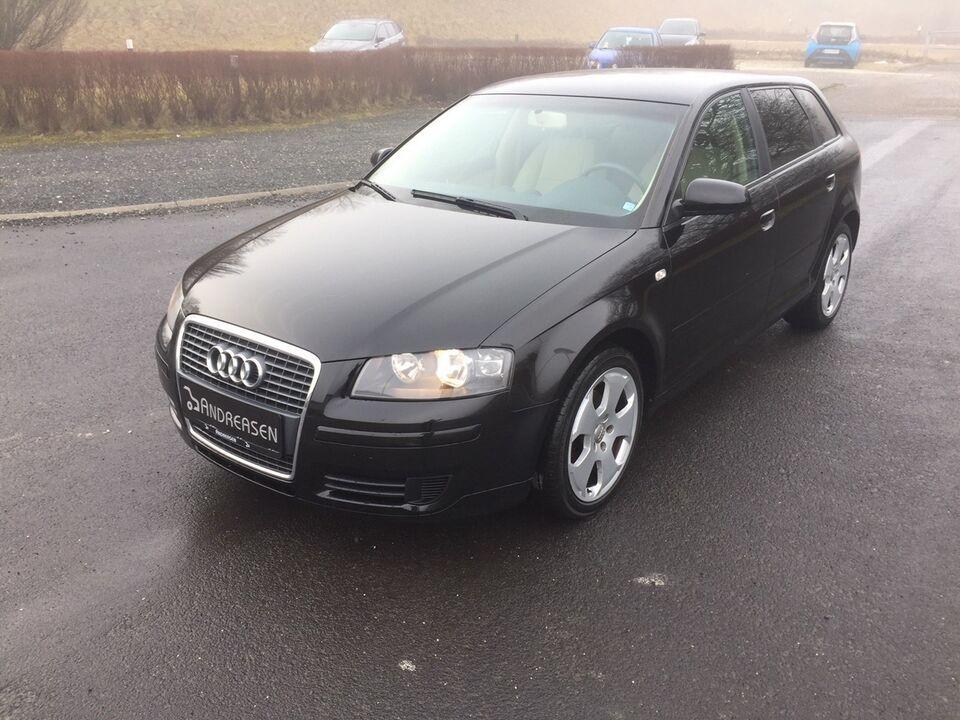 Audi A3 1,6 Attraction Benzin 2005 km 138000 sort