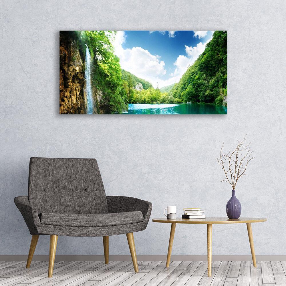 Lienzo de imágenes de imagen de muro Canvas Canvas Canvas son impresiones artísticas 120x60 montaña bosque lago natural f20b82