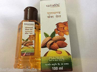 Patanjali ALMOND HAIR OIL 100ml Prevents Hair Fall CONDITIONS HAIR~~new launch~~