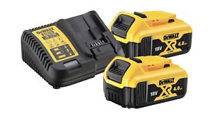 Lot de 2 batteries et 1 chargeur lithium-ion DEWALT XR DCB115M2-QW, 18 V, 4 Ah