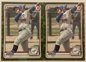MIGUEL VARGAS 2020 Bowman MLB Baseball CAMO PARALLEL (2x) LOT 1st card BP-131