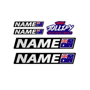 Details about Custom Name Australia Flag Name 20cm Adhesive Car Motorcycle  Quad Go-Kart