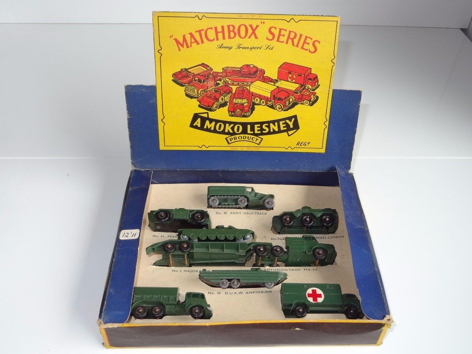 Matchbox lesney giftset ARMY TRANSPORT PRESENTATION SET - PS 5