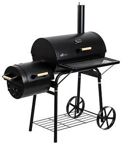 """Smoker Holzkohlegrill """"Dakota"""" von El Fuego® Grill BBQ Grillwagen Barbecue"""
