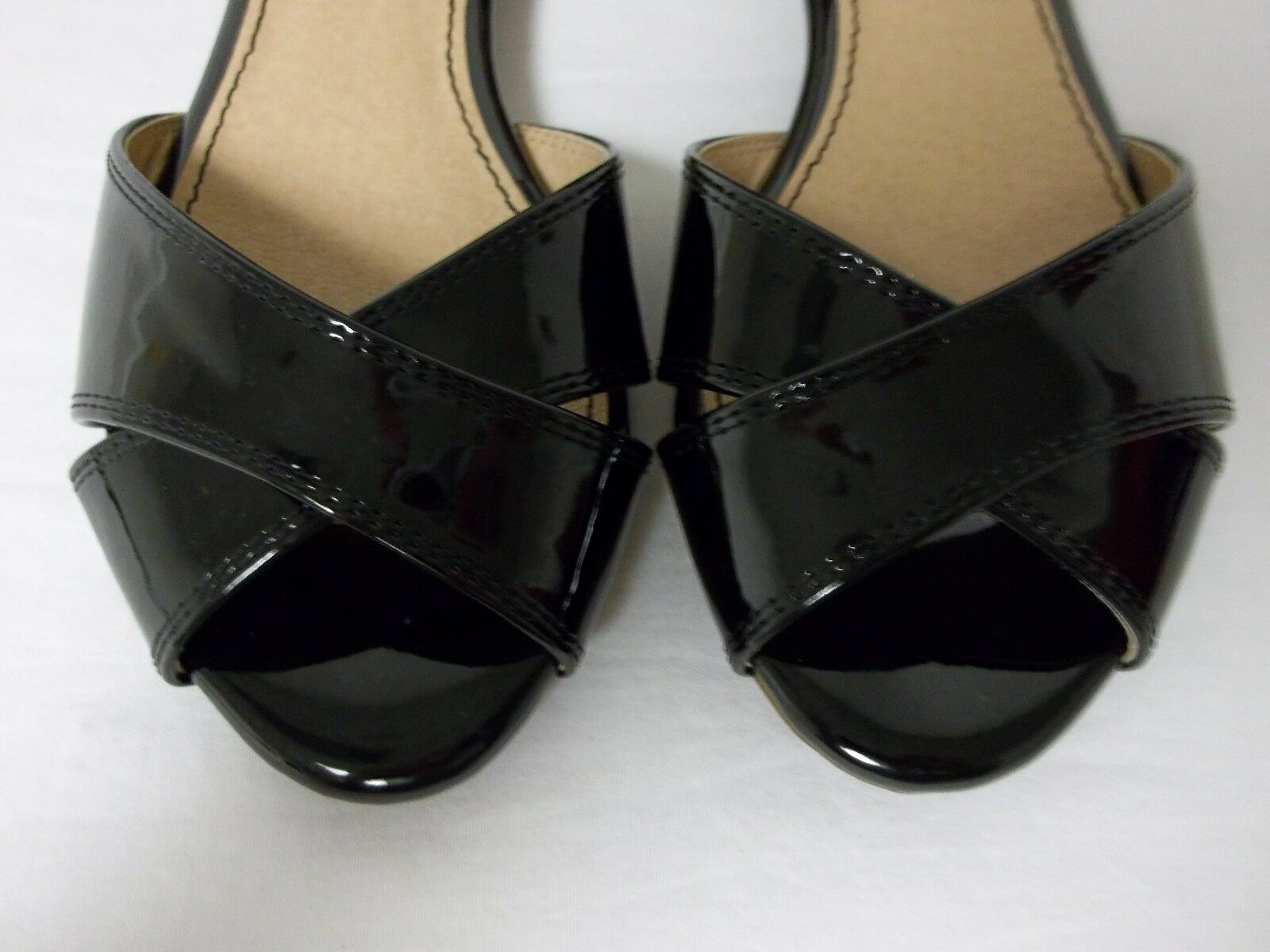 Splendid Size 6.5 M Atlanta Black Tan Leather Leather Leather Ankle Strap Flats New Womens shoes 388217