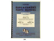 Kearney Amp Trecker Replacement Parts Manual Model Ac Chchl Milling Machine 128
