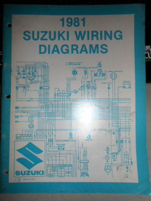 Suzuki Atv Motorcycle Wiring Diagrams 1981