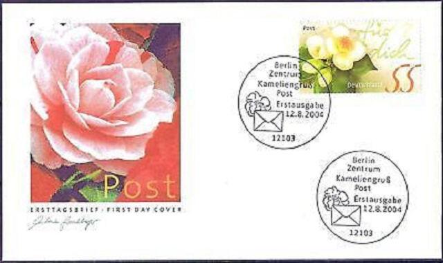 BRD 2004: Post Kameliengruß! FDC Nr. 2414 mit Berliner Ersttags-Sonderstempeln!
