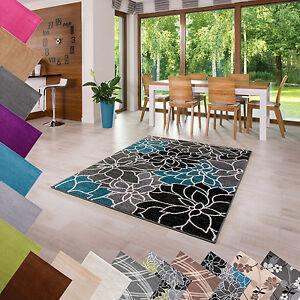Teppich Kurzflor Einfarbig Muster Beige Camel Grau Blau 80 120 140