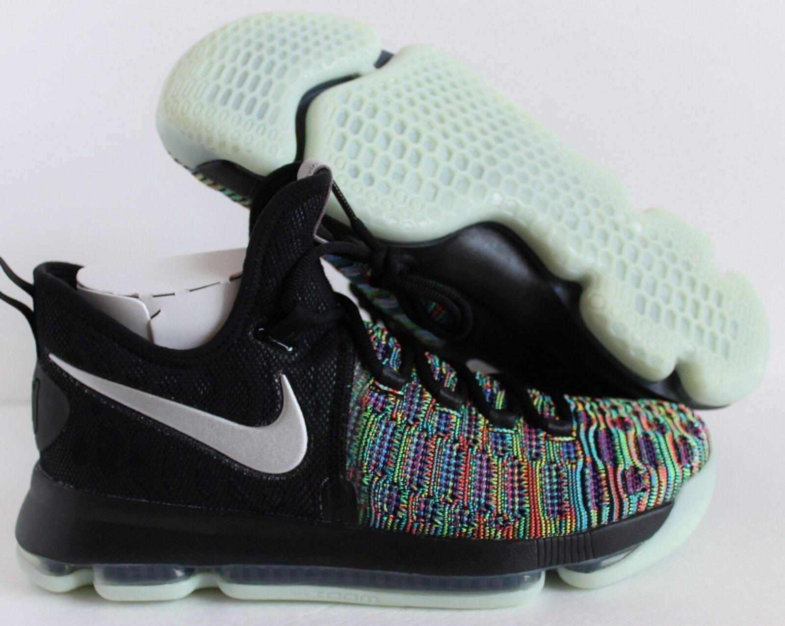 Nike kd 9 ix - multi - farbe / schwarz silber kevin durant sz 9 [863695-999]