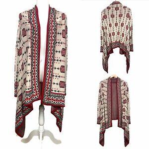 Divided-Aztec-Print-Open-Front-Cardigan-Boho-Womens-Size-M-Medium