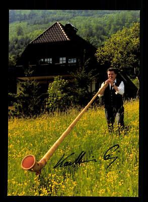 Original, Nicht Zertifiziert Alphornsolist Autogrammkarte Original Signiert ## Bc 116893