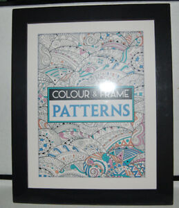 Colour and Frame Patterns Coloring Book by Felicity French (2016, Paperback)