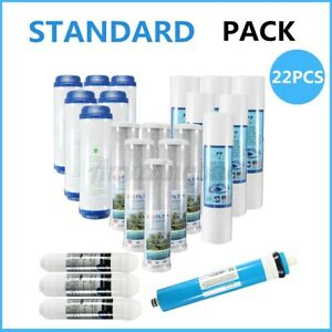 22PCS Home RO Water Filter Replacement Set Fit 5 Stage Reverse Osmosis System