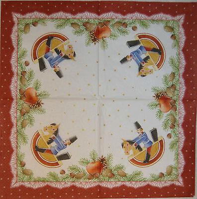 PAPER TABLE NAPKINS FOR CRAFT VINTAGE CHRISTMAS DECO DECOUPAGE TEA PARTIES 379
