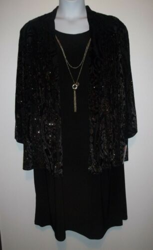 ~ Nwt di Donna Glitter r velluto sz M Dress Collana 882191064272 floccato Richards Giacca 20w ZAZfSqwP