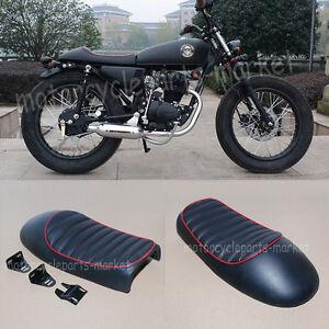 Image Is Loading BLACK Hump Custom Cafe Racer Seat Vintage Saddle
