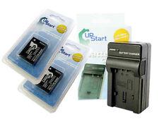 2X DMW-BCG10 Battery + Charger for PANASONIC LUMIX Camera DMC-ZS1 ZX3 ZS5 BCG10E