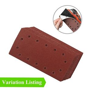 HOOK /& LOOP 1//2 SANDING SHEETS 115 x 230mm PUNCHED SANDPAPER PADS 20 MIXED GRIT