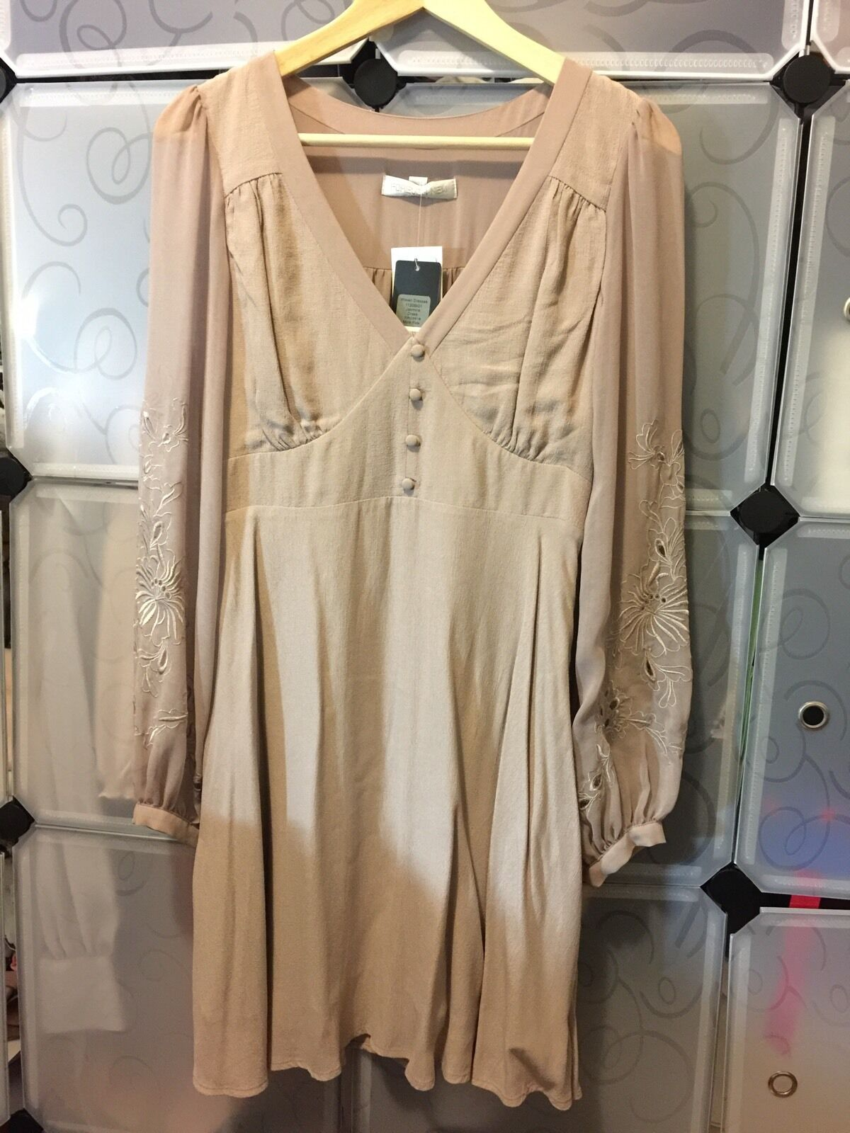 Forever New Jasmina Dress Beige Size 10