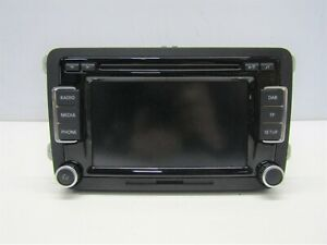 VW-TIGUAN-2011-15-RADIO-CD-HEAD-UNIT-WITH-CODE-3C8035195H-6255V