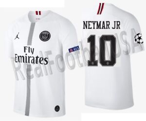 sale retailer 9b525 335e3 Details about JORDAN NEYMAR JR PSG PARIS SAINT-GERMAIN CHAMPIONS LEAGUE  AWAY JERSEY 2018/19.