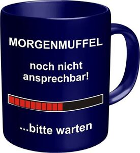 Fun Tasse Geburtstag Geschenk Kaffeebecher Morgenmuffel Lustiger