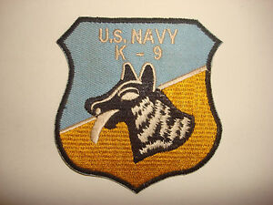 Guerra-Vietnam-Eeuu-Azul-Marino-K-9-Perro-Entrenamiento-Equipo-Parche