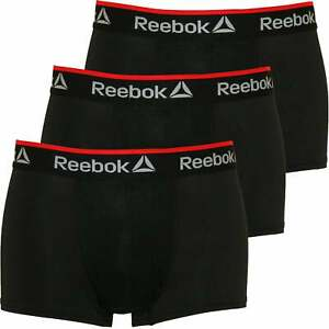 Reebok-3-Pack-Sports-Performance-Men-039-s-Boxer-Trunks-Black